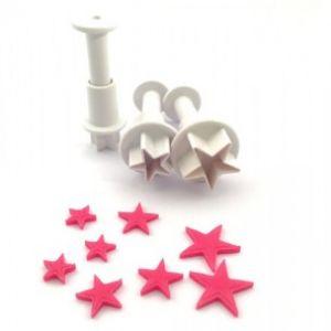 Dekofee mini plungers Stars set van 3