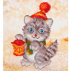 Diamond Dotz® Christmas Kitten glow