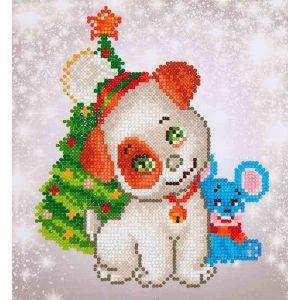 Diamond Dotz® Christmas pup & mouse