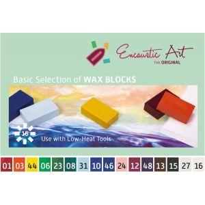 Encaustic was assortiment basisset 16 kleuren