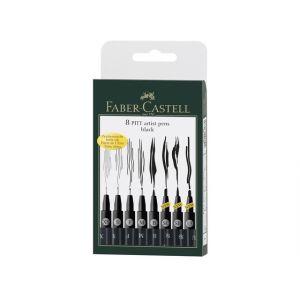 Faber Castell Pitt artist tekenstift set 8-delig