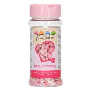 Funcakes Baby girl Sprinkle Medley roze 50gr