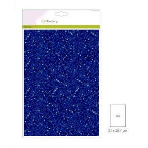Glitterpapier blauw 5 vel