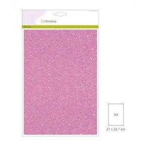 Glitterpapier babyroze 5 vel