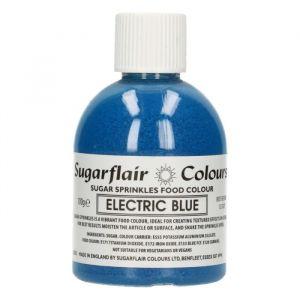 Sugarflair sugar sprinkles - electric blue 100gr.