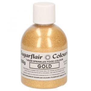 Sugarflair sugar sprinkles - gold 100gr