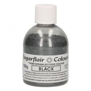 Sugarflair sugar sprinkles - black 100gr