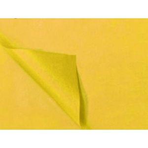 Zijdevloeipapier geel 50x70cm 5 vel 185905