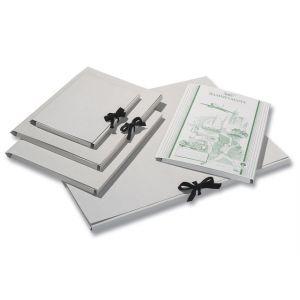Tekenmap A4 grijs karton met lint