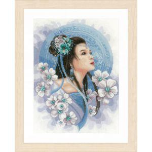 Lanarte Asian lady in blue
