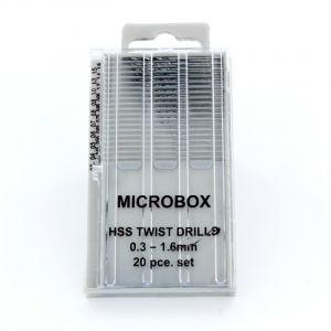 Modelcraft Microbox borenset 0,3-1,6mm 20st