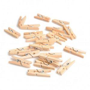 Mini houten wasknijpers 2,5cm Rayher 61 354 31