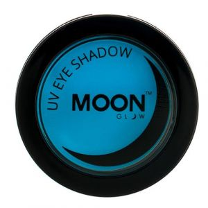 Moon Glow Neon UV eyeshadow blue