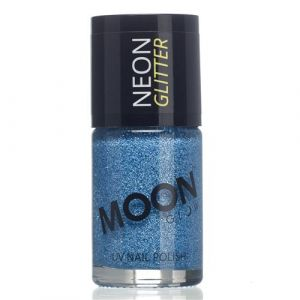 Moon Glow Neon UV nailpolish glitter blue