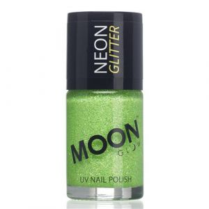 Moon Glow Neon UV nailpolish glitter green