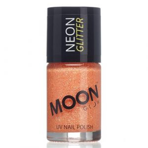 Moon Glow Neon UV nailpolish glitter orange