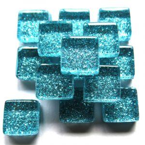 Mini Glitter Aztec Turquoise 10x10mm 100 gram sealo23