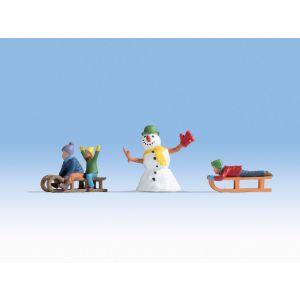 NOCH Kinderen in de sneeuw 3-delig N17921