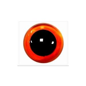 Veiligheids ogen amber transparant 14mm