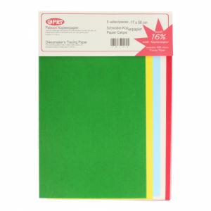 Opry patroon gekleurd kopieerpapier 17x58cm 5 vel 10102