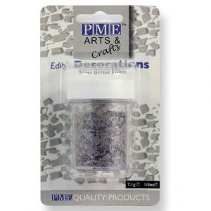 PME Edible silver glitter flakes 7 gram