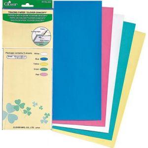 Clover tracing paper 5 vel in kleur