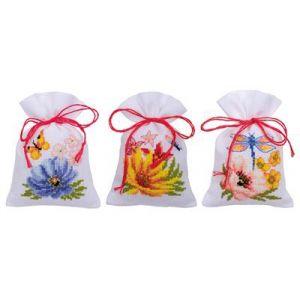 Vervaco Kruidenzakje Kleurige bloemen 3st
