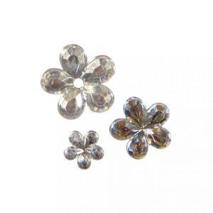 Acryl strass bloemen kristal Rayher 15 227 00