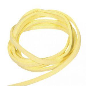 Daim micro suede veter geel Rayher 83 000 20