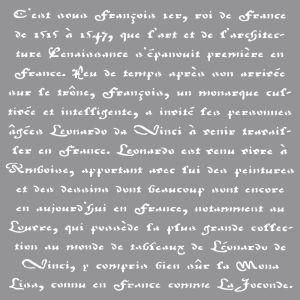 Sjabloon Frans schrift Rayher 38 908 000