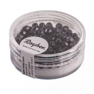 Glas facetkraal 4mm Zwart