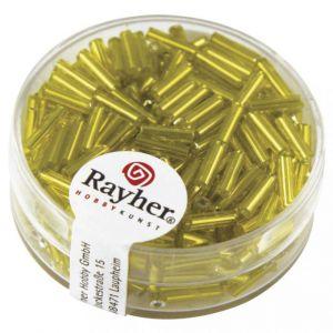 Glasstift 7x2mm zilverkern geel