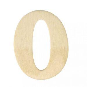 Houten cijfer 0 4cm Rayher 61 635 00
