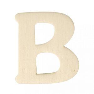 Houten letter B 4cm Rayher 61 601 00
