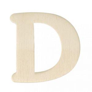 Houten letter D 4cm Rayher 61 603 00