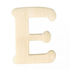 Houten letter E 4cm Rayher 61 604 00