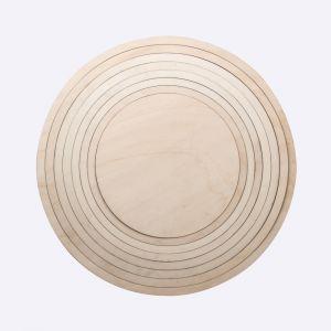 Houten ringen set 8-delig Ø60cm 62971505