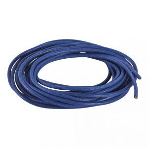 Ronde veter van geitenleer Ø1,5mm blauw Rayher 83 018 10