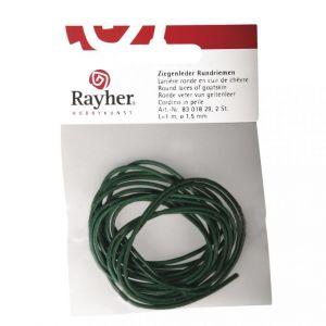 Ronde veter van geitenleer Ø1,5mm groen Rayher 83 018 29