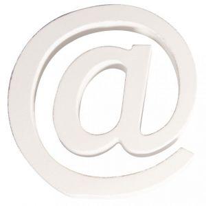 @-teken wit MDF 11x2cm Rayher 62 683 000