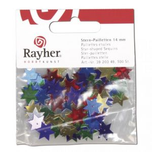 Ster paillet 14mm assorti Rayher 39 203 49