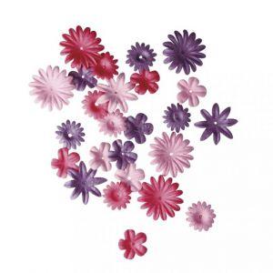 Papieren bloemen donkerroze Rayher 78 955 33
