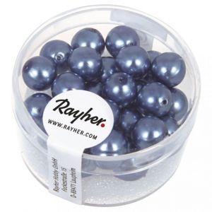 Renaissance glasparel 8mm azuurblauw Rayher 14 402 374