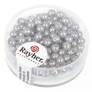 Renaissance glasparel 4mm zilvergrijs Rayher 14 400 561