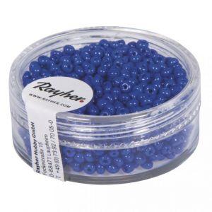 Kralen opaak 2mm Donkerblauw