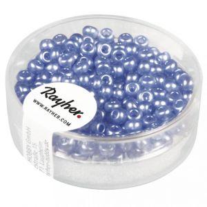 Rocailles gewaxt 3,5mm beiersblauw Rayher 145590366