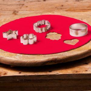 Uitgerolde rolfondant disc fire red 36cm F20710