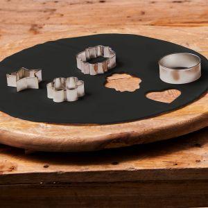 Uitgerolde rolfondant disc raven black 36cm F20730