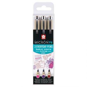Sakura Pigma Micron PN Crafts set 3 fineliners every day pens  POXSDKPN3B