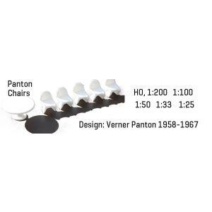 Hermoli 1:25 Panton Chairs + table 4 stuks + 1 tafel